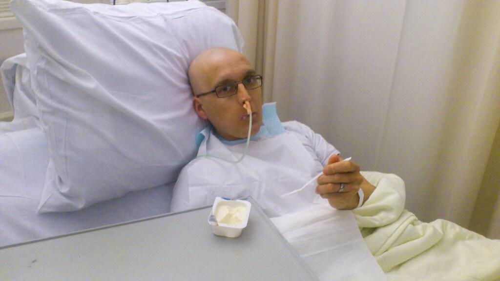 Edwin kreeg de beroerte aan het einde van zijn chemokuur.