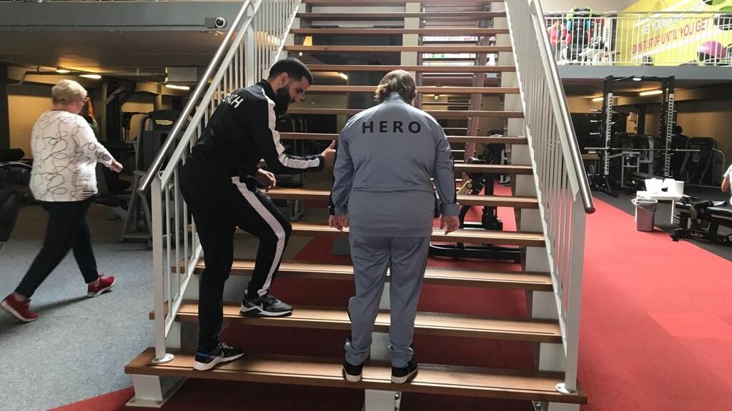 Ooit durfde Yvette de trap niet op. Ooit.