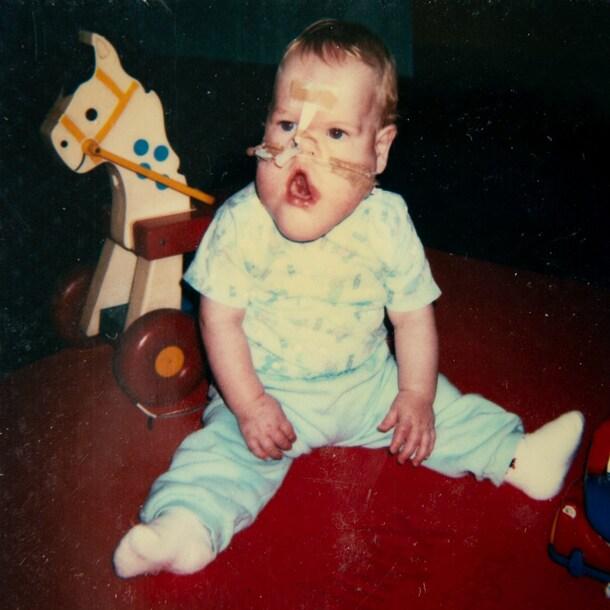 Erwin als kind.