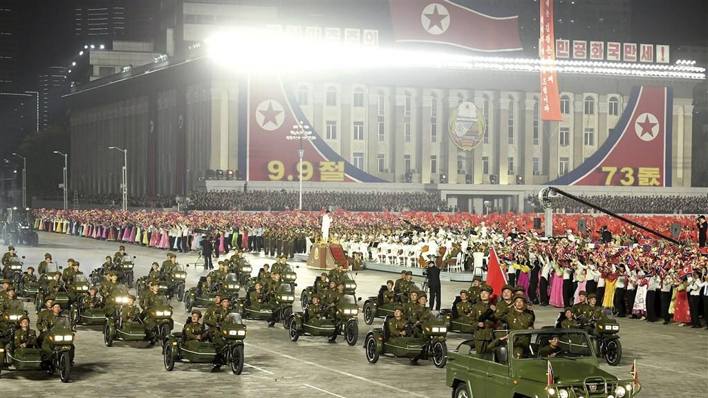 Een militaire parade die vorige week in Noord-Korea werd gehouden, ter illustratie.