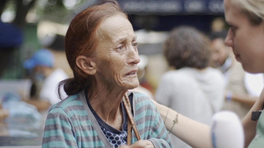 De Venezolaanse vrouw die Sandra interviewde tijdens de Venezolaanse vluchtelingencrisis.