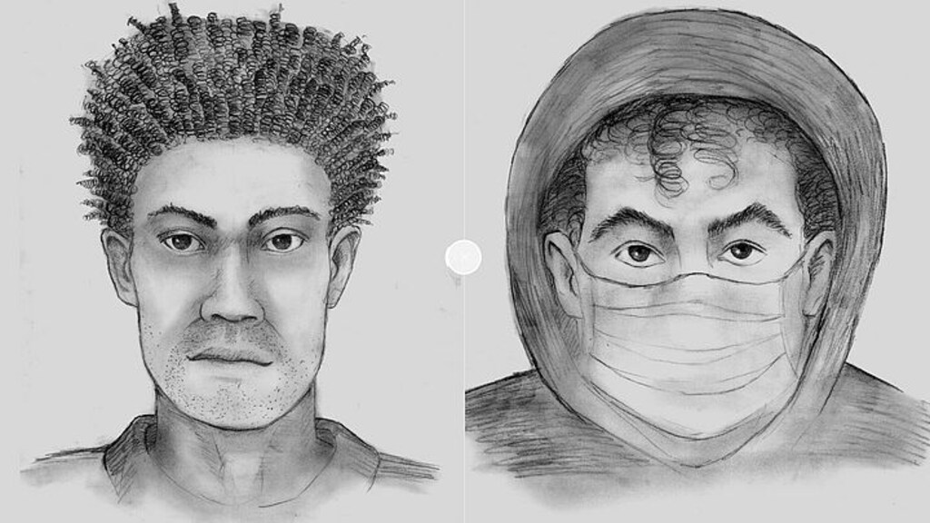 Compositietekening van de twee verdachten