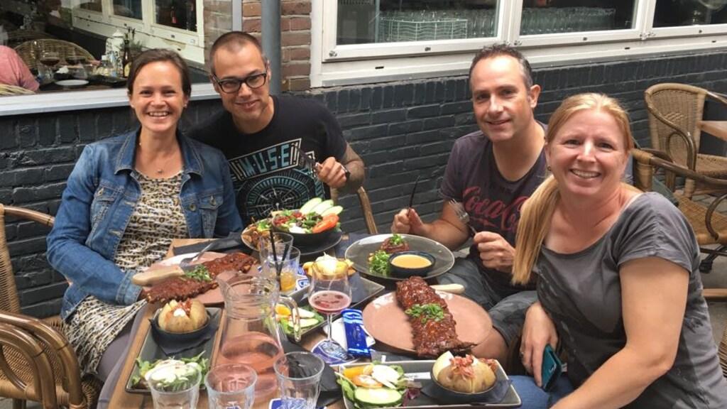 Elise, Ralf, Alex en Chantal.