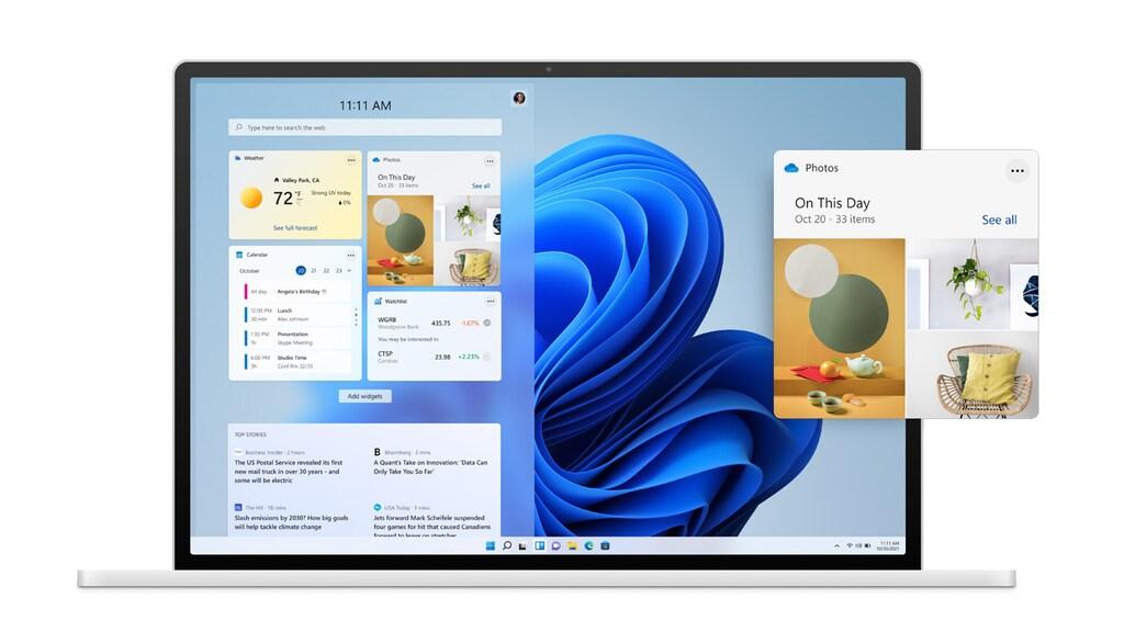 De nieuwe widgets in Windows 11.
