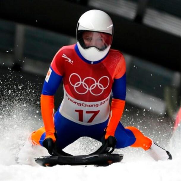 Bos bij de Olympische Spelen in 2018. Ze eindigde toen als achtste.