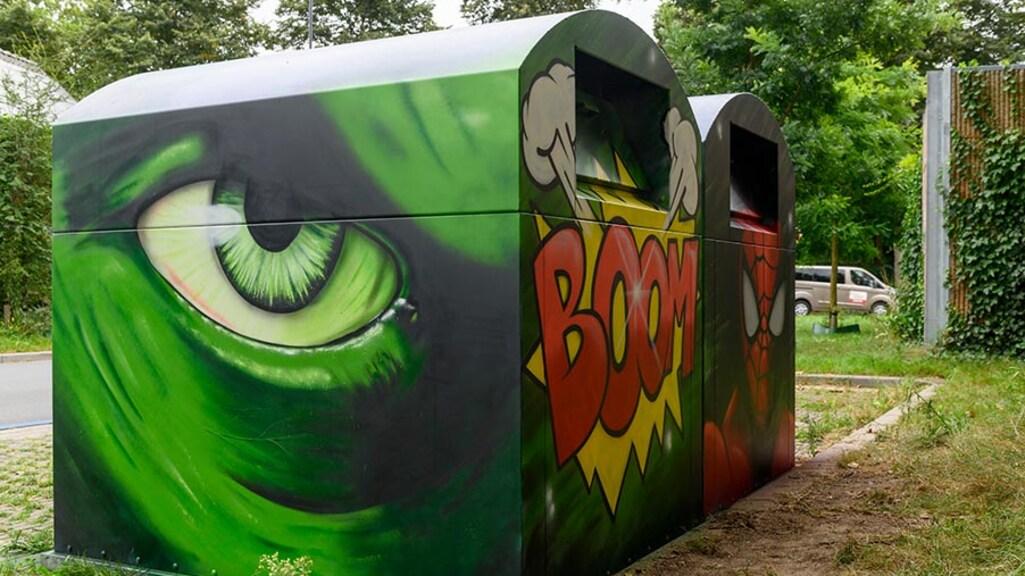 Een container met kunst