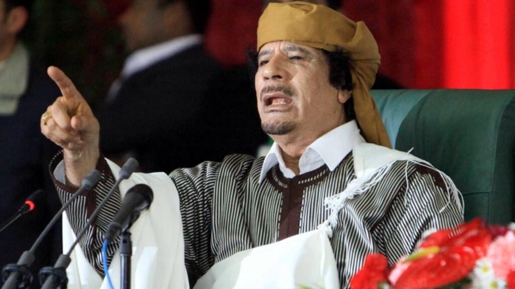 Khadafi werd uiteindelijk door rebellen verjaagd en gedood