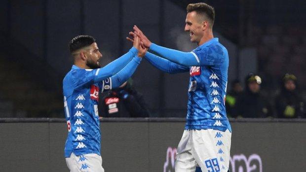 Milik leidt Napoli naar kwartfinales