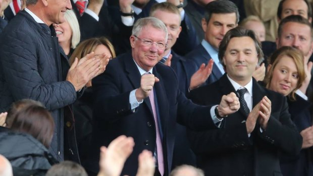 Sir Alex Ferguson terug op Old Trafford