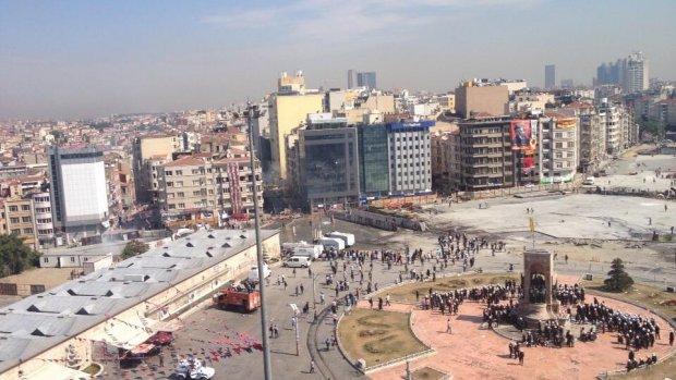 Betogers verwijderd van Taksimplein