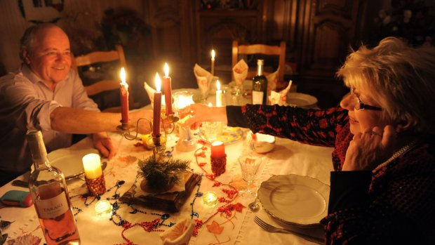 Kerst in het donker