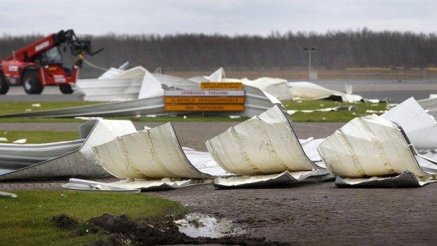 Storm zorgt voor veel incidenten