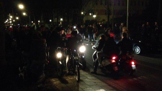 Demonstratie in Leiden: 'Weg met die pedofiel!'
