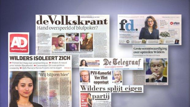 Verontwaardiging in kranten over uitspraken Wilders
