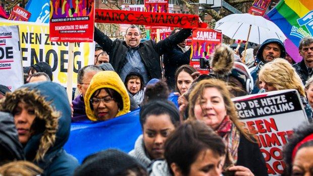 Duizenden demonstreren tegen uitlatingen Wilders
