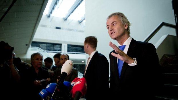Wilders niet naar België vanwege crisis in de partij