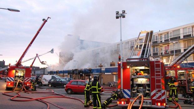 Burgemeester Zwijndrecht: Brand is aangestoken