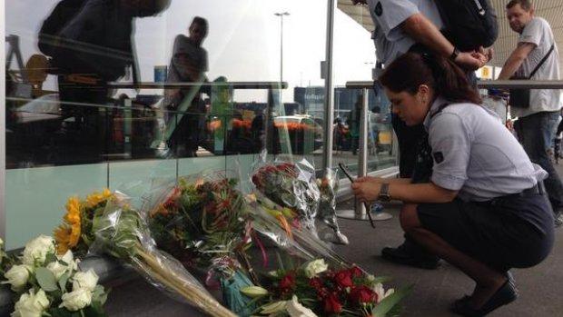 Bloemen op Schiphol