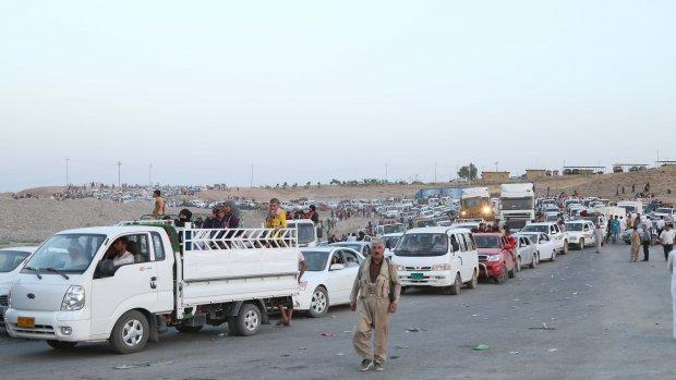50.000 hongerende mensen vast op Iraakse berg