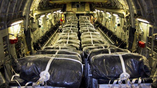 VS dropt opnieuw voedsel en water in Irak