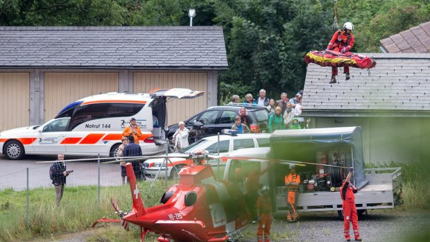 Zwaargewonden bij treinongeluk Zwitserland