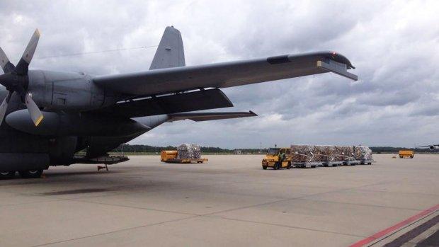 15.000 kilo aan hulpgoederen ingeladen