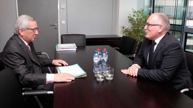 Timmermans op gesprek bij Juncker