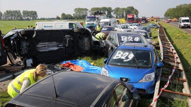 'Truckers voorkwamen erger bij kettingbotsingen Zeeland'