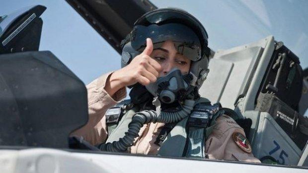 Hét gezicht van de bombardementen op IS is een vrouw