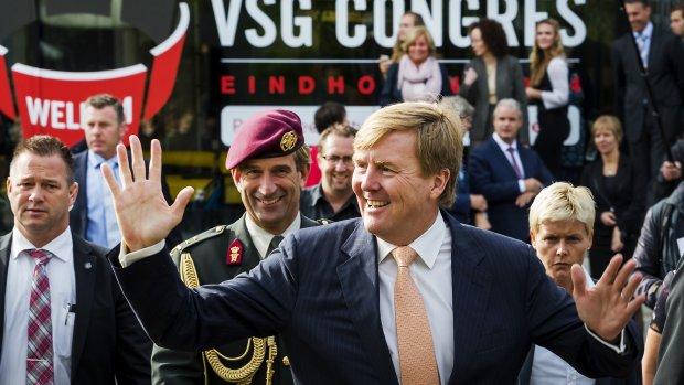 Koning Willem-Alexander bij start Tour de France Utrecht