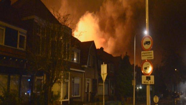 Asbest bij grote brand Wateringen