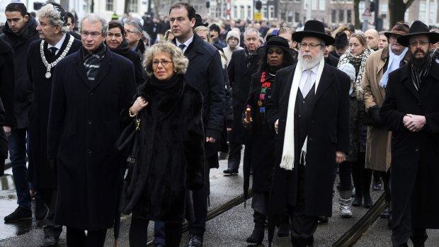 Amsterdam herdenkt bevrijding Auschwitz