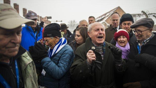 Overlevenden kamp Auschwitz herdenken bevrijding