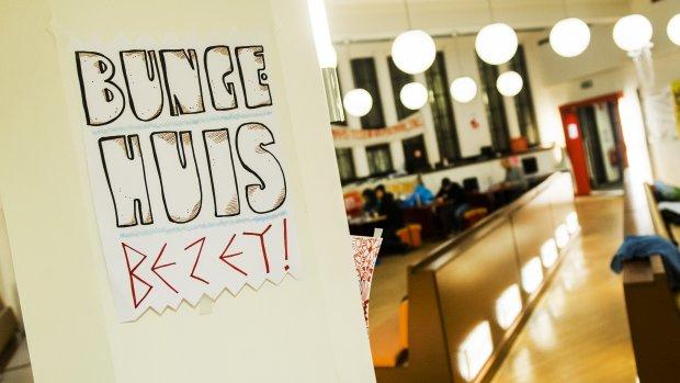 Overleg over bezetting Bungehuis afgelopen