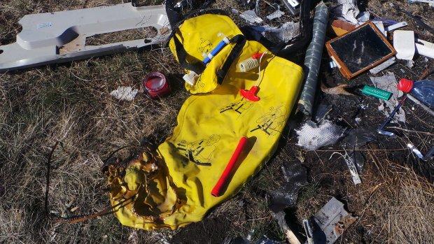Nog veel brokstukken MH17 op rampplek