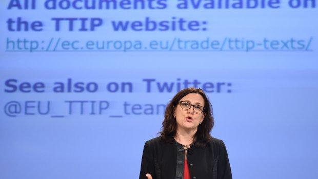 EU-commissaris Malmström: volgend jaar TTIP-akkoord