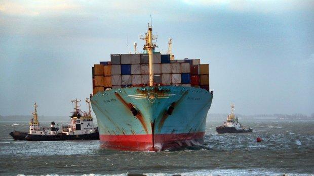 Vrachtschip Vlissingen weer los