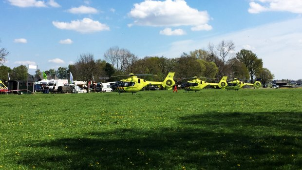 Drie zwaargewonden na ongeval met hoogwerker