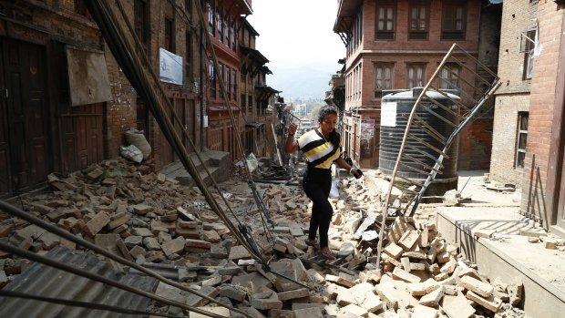 Paniek na nieuwe bevingen Nepal