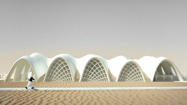 Architect bouwt 'stad van de toekomst' uit zout