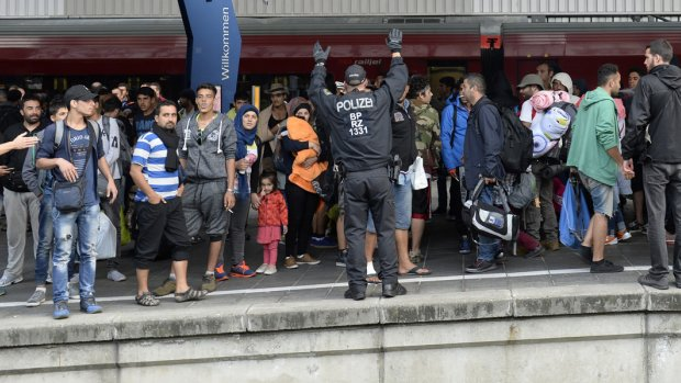 Duizenden vluchtelingen aangekomen in München