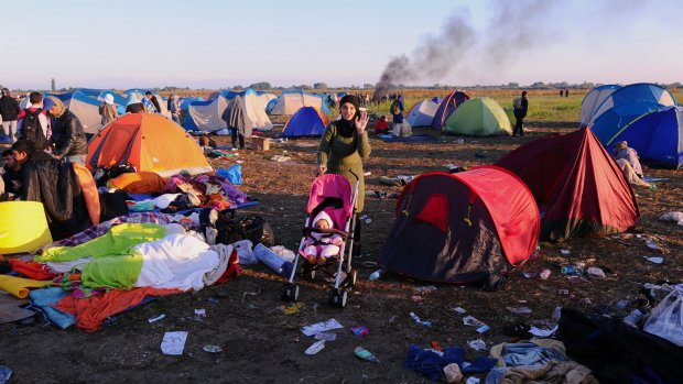 Hongaarse politie beëindigt vluchtelingenmars