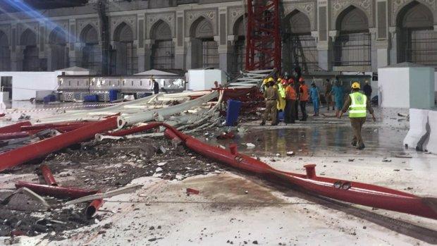 Video: Storm oorzaak van kraanongeluk Mekka