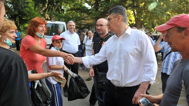 Kroatië en Hongarije ruziën over vluchtelingen