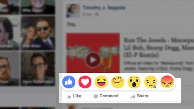 'Facebook breidt like-knop uit met emoji's'