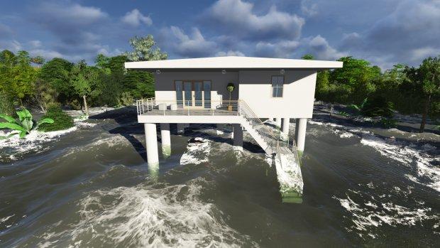 Overstroming is geen probleem voor deze woning