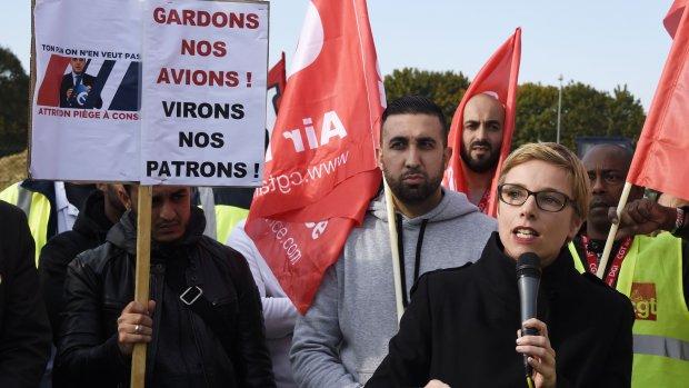 Medewerkers Air France protesteren tegen arrestaties