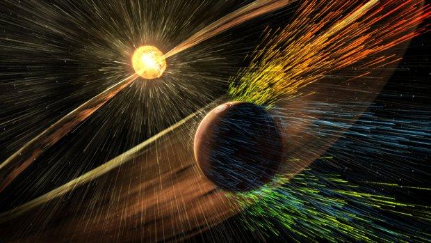 Ontdekking NASA: zon beroofde Mars van atmosfeer