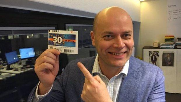 Staatslot Mathijs Bouman was 10 euro waard geweest