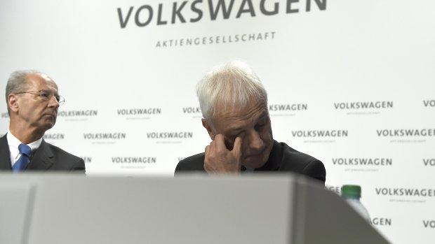 Beurskoers Volkswagen onderuit
